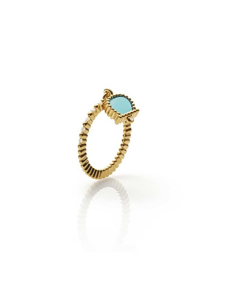 CHANTECLER Ring in yellow gold and diamonds