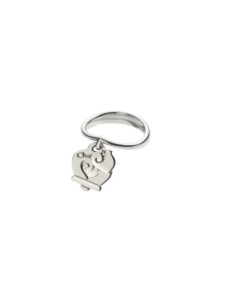 CHANTECLER Silver ring with 2 hanging symbols