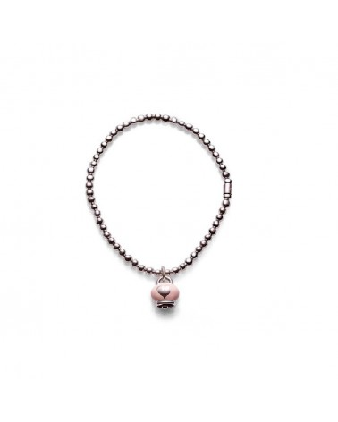 CHANTECLER Elastic bracelet in silver with Campanella pendant