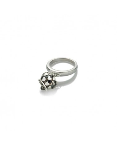 CHANTECLER Micro campanella ring, black gradient