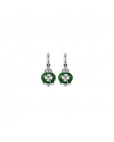 CHANTECLER Micro campanella earrings with enamel